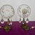 2 Antique Wall Sconces, Elegant French Wall Chandeliers, Cut Glass Drops, French
