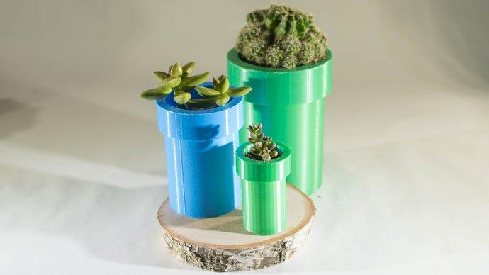 Mario Planter Succulent Planter Nintendo Switch super mario Planter Gardening