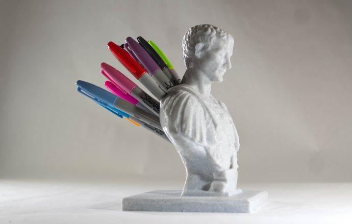 Julius Caesar Pencil Holder Inspiration Julius Caesar Bust Pencil Holder Pen Holder By DipsandPrints On Zibbet