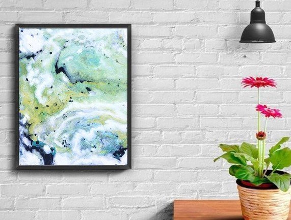 Fluid art, abstract painting, original art, not a print