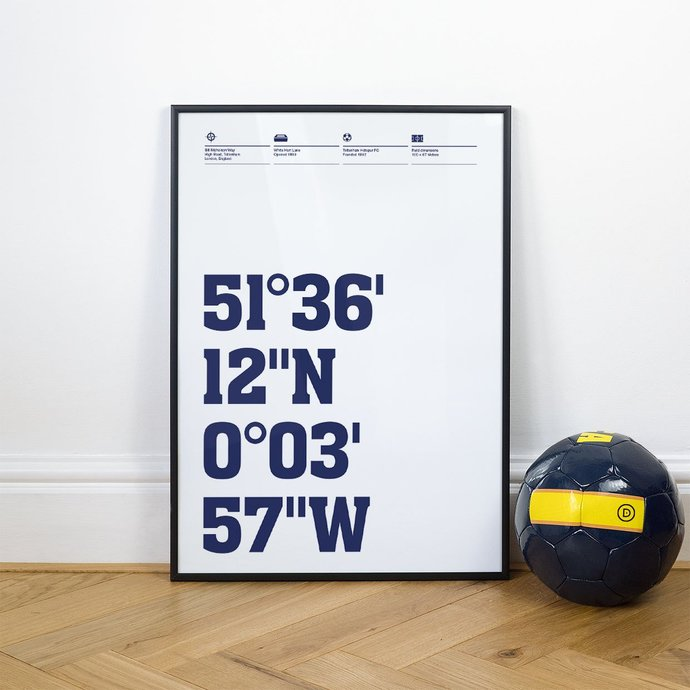 Tottenham, Football Stadium Coordinates Posters