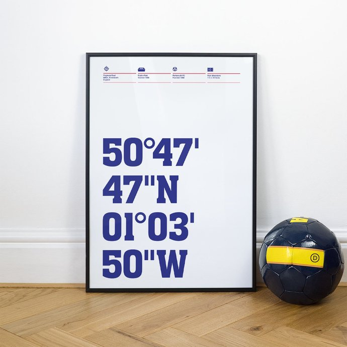 Portsmouth, Football Stadium Coordinates Posters