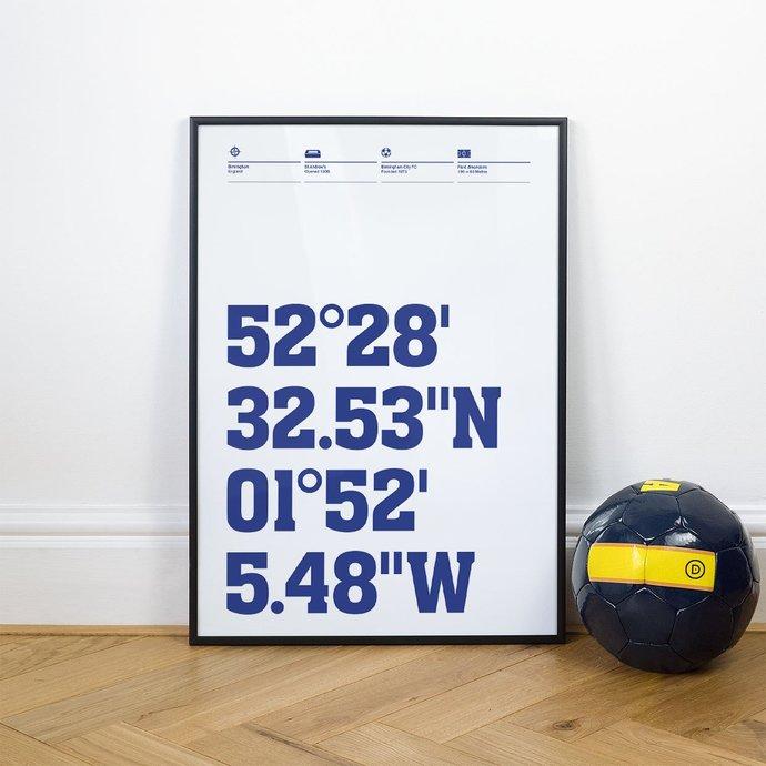 Birmingham City, Football Stadium Coordinates Posters