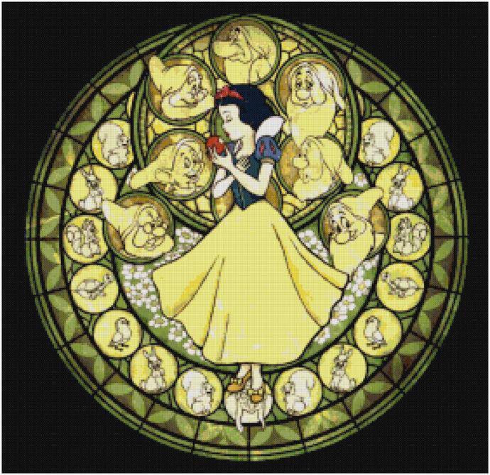 Kingdom Hearts Snow White Cross Stitch Pattern, Instant Download Pattern
