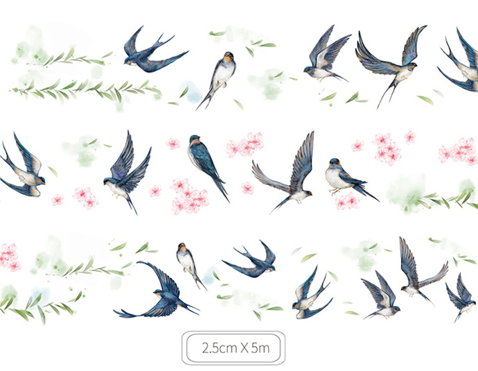 1 Roll of Limited Edition Washi Tape:  Sparrow's Spring Return