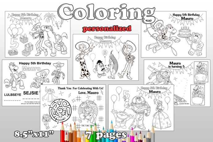 Toy Story Birthday Party favor, Toy Story coloring pages, Toy Story party