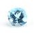 Semi Precious Loose Gemstone Sky Blue Topaz  faceted 12mm Cushion Flawless