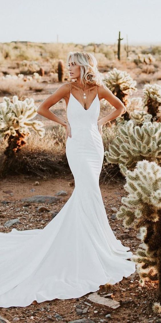 c5b2b6b38cd60 Sexy Mermaid Wedding Dress