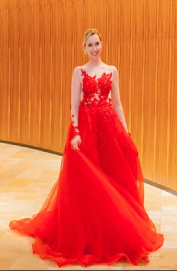 Vintage Red Evening Dresses