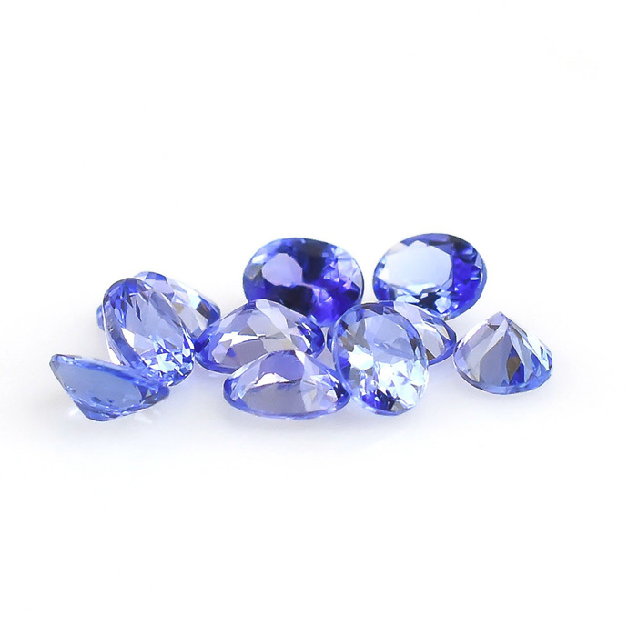 Tanzanite  Faceted 5X4 Oval Semi Precious Loose Gemstone