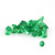 Green Emerald Diamond Cut faceted 2mm Round  Precious Loose Gemstone