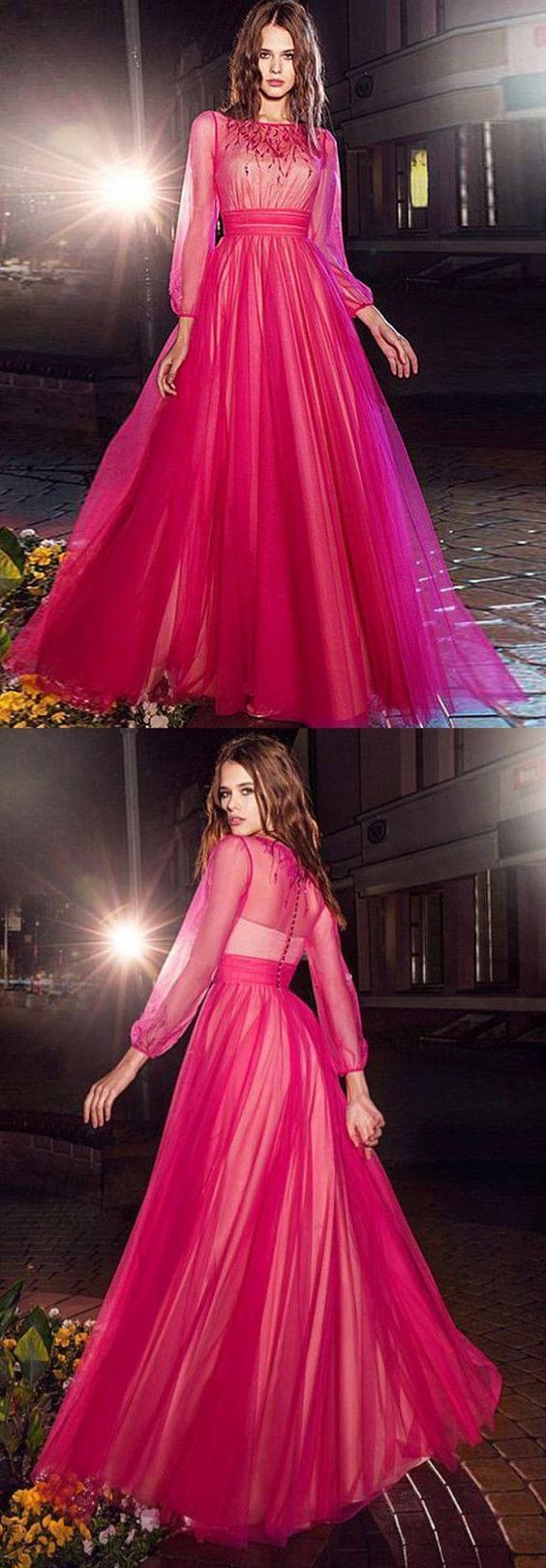 Simple Prom Dresses, Long Sleeves Prom Dresses, Prom Dresses For Cheap, Prom