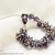 Crystal Bracelet; Glass Bracelet; Purple Amethyst Crystal Bracelet by CandyBead