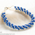 SALE; Size 8 1/2 to 9 1/2 inches; Navy Blue Swarovski Bracelet; Crystal; Glass