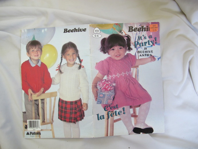 Beehive It's a party children's knitting  and crochet patterns / Patons Beehive