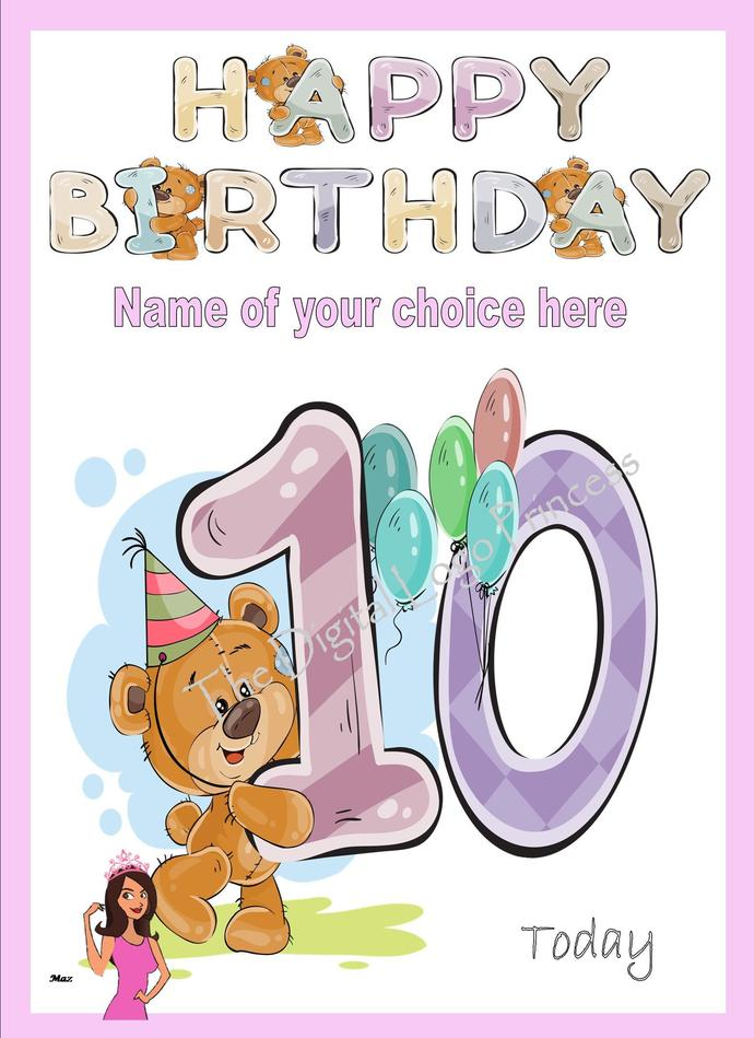 Personalised Childrens Age By Thedigitallogoprincess On Zibbet