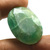 Big Size Faceted Green Emerald 33X25 mm Oval Semi Precious Dyed Loose Gemstone