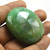 Big Size Faceted Green Emerald 47X45  mm Oval Semi Precious Dyed Loose Gemstone