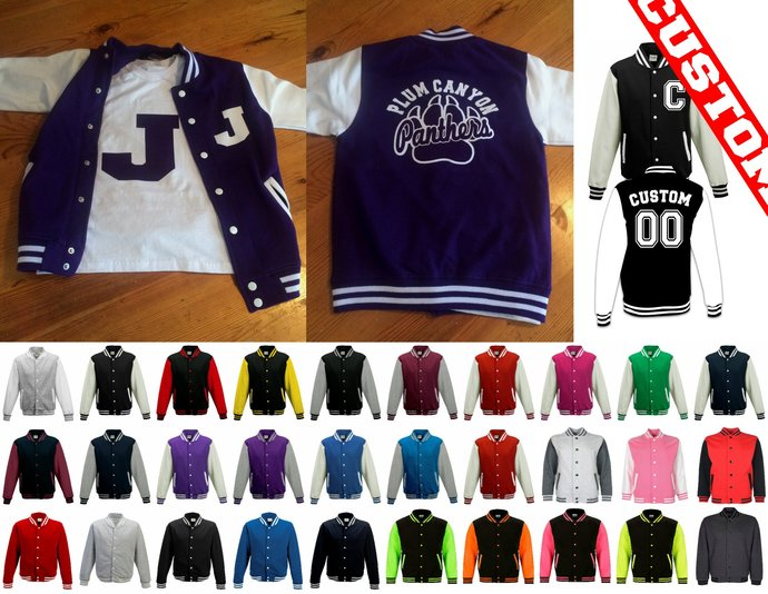 Personalised Cheerleader Varsity Jacket Any Color Adult & Youth Sizes Discount