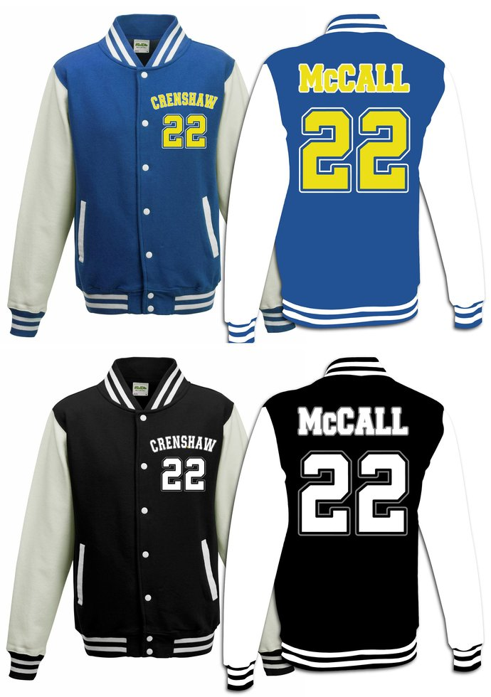 444d1c05ed57 Personalized Quincy McCall  22 Jersey Movie Basketball Crenshaw Varsity  Jacket