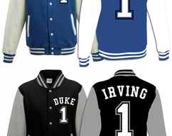 ca07106637c Kyrie Irving Basketball 1  Duke University Blue Devils Jersey Varsity  Jacket Sweater ·  39.44 · Shopjerseys · 4 Devonte Graham Kansas Jayhawks KU  College ...