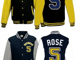 8efd94c7d17 Jalen Rose University of Michigan  5 Basketball Jersey Varsity Jacket  Sweater