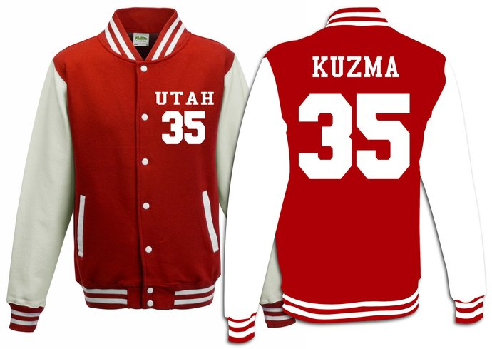 35 Kyle Kuzma Utah College Throwback Basketball Varsity Jacket Sweater