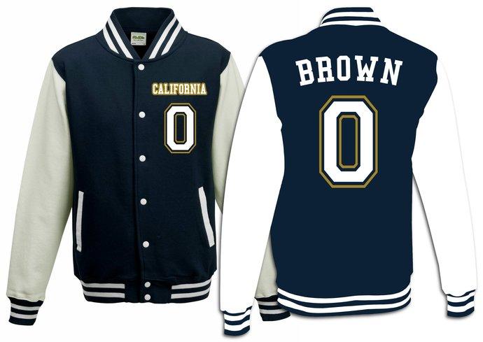 New #0 Jaylen Brown California Basketball Varsity Jacket Sweater Sweatshirt