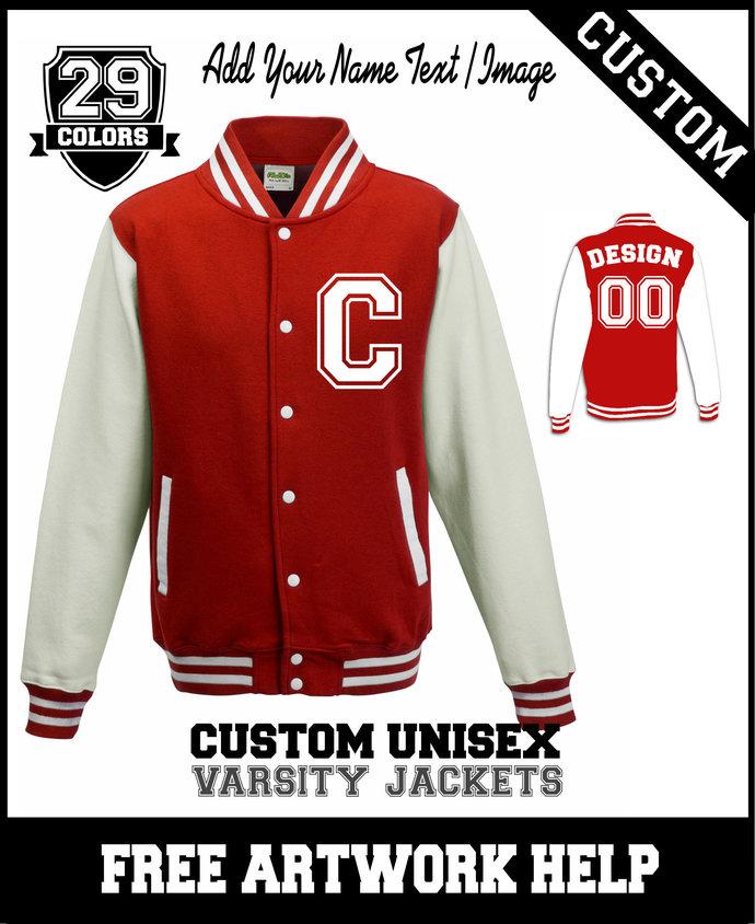 Custom-made American Football / Cheerleaders Team Varsity Jackets - Add your
