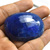 Big Size Faceted Dyed Sapphire 37x30 mm Oval Semi Precious Loose Gemstone
