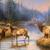 Autumn Mist Elk Cross Stitch Pattern***LOOK***X***INSTANT DOWNLOAD***