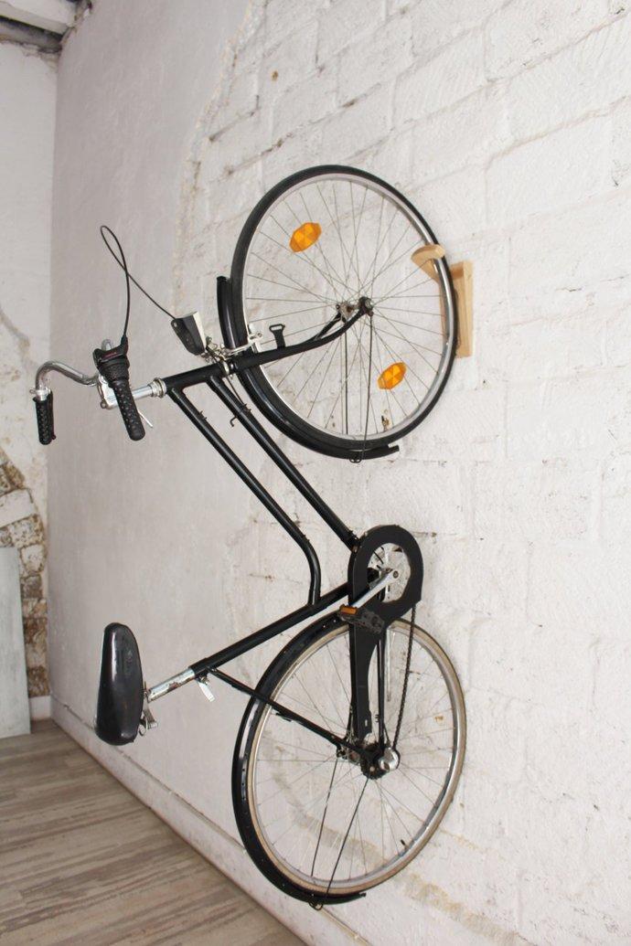 Tokyo   Bike Rack / Bike Wall Mount / Wooden Wall Hooks / Bike Storage /