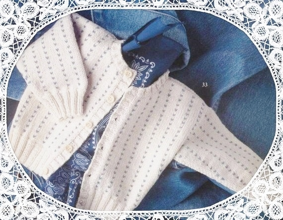 Instant PDF Download Vintage Row by Row Knitting Pattern to make Baby & Toddlers