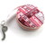 Retractable Measuring Tape Red and Pink Tape Measure Fabric Retractable Tape