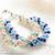 SALE Size 7 1/2 (19 cm) Crystal Bracelet; Swarovski Bracelet; Glass Bracelet;