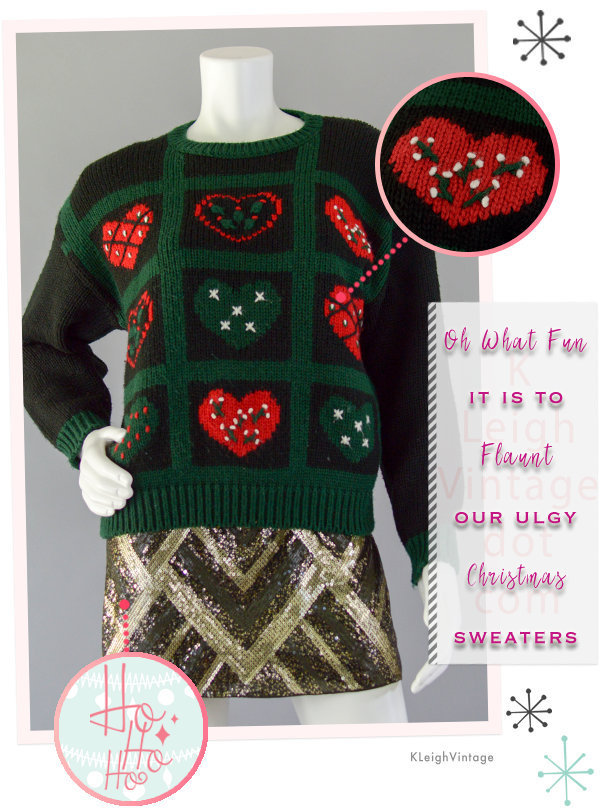 Ugly Christmas Sweater Vintage, Ugly Christmas Jumper, 80s Embroidery Chunky