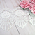 "1yd Embroidered Rose Venice Lace - 3"" White"