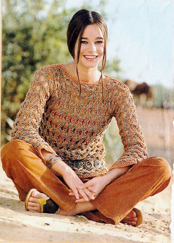 ddd12aee7eb4 Instant PDF Download Vintage Row by Row Knitting Pattern Ladies Womens Super