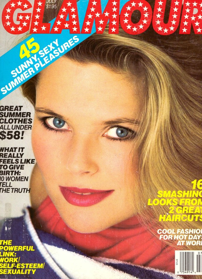 Glamour Fashion Magazine July 1986 Christie Brinkley Sandra Day O'Connor David