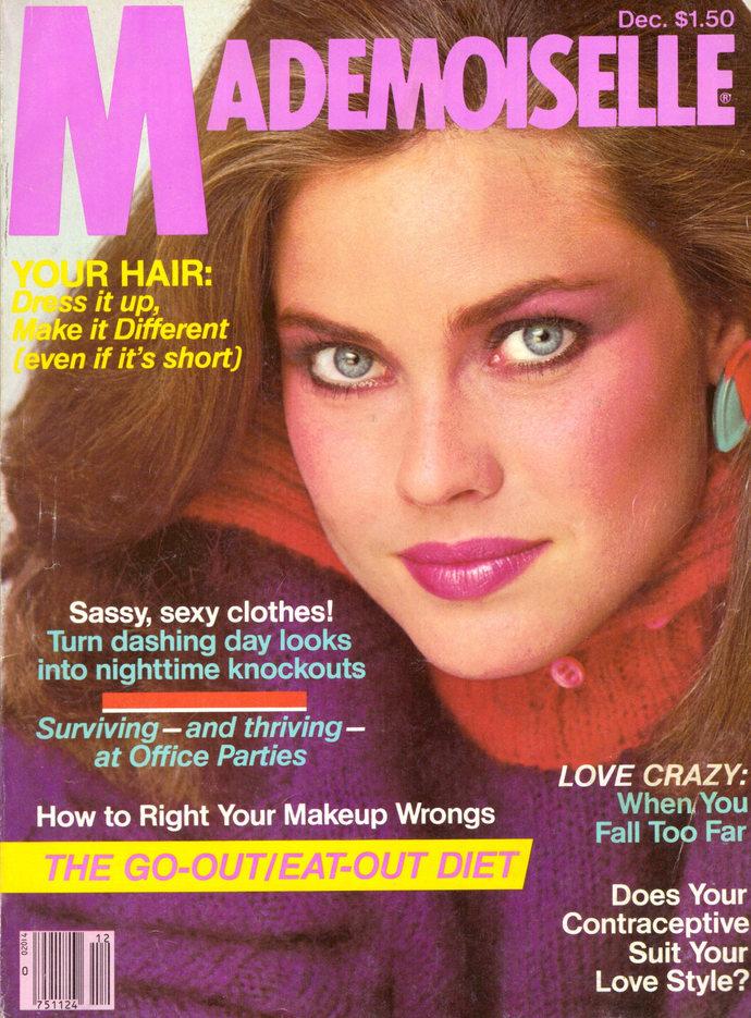 1980 Mademoiselle Fashion Magazine Carol Alt Kim Alexis Christopher Walken Robin