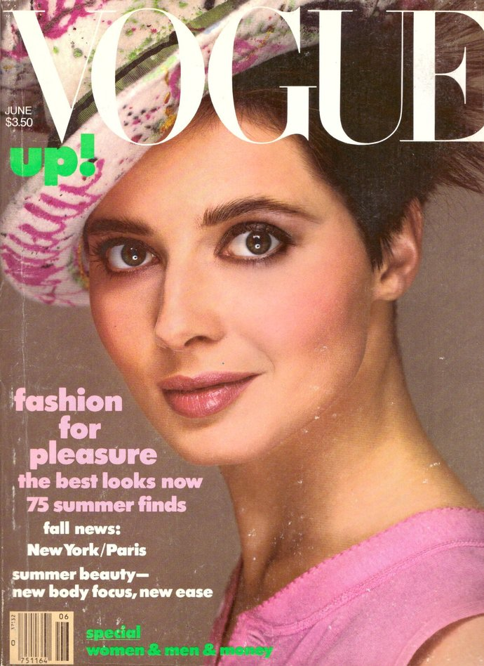 1984 Vogue Fashion Magazine Isabelle Huppert Antonio Lopez Peter Weller