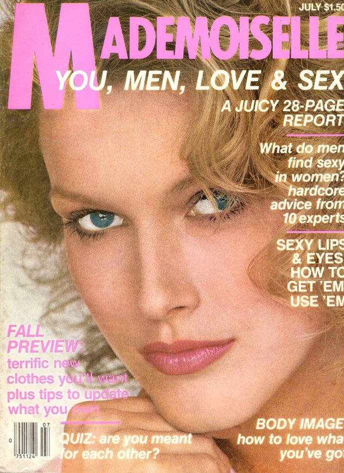 Mademoiselle Vintage Fashion Magazine July 1980 Richard Gere Male Models Jeff