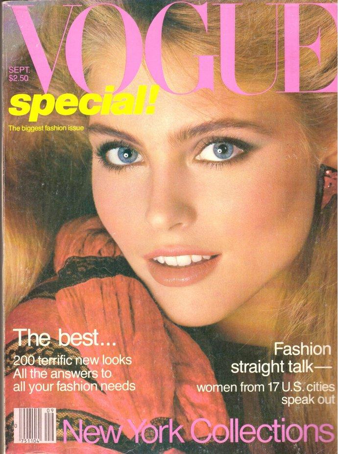 1980 Vogue Fashion Magazine Patti LuPone Diane Von Furstenberg Gia Carangi