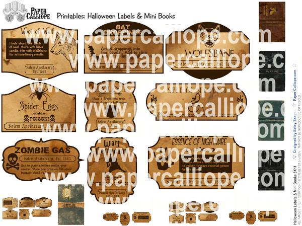 Halloween Labels & Mini Books