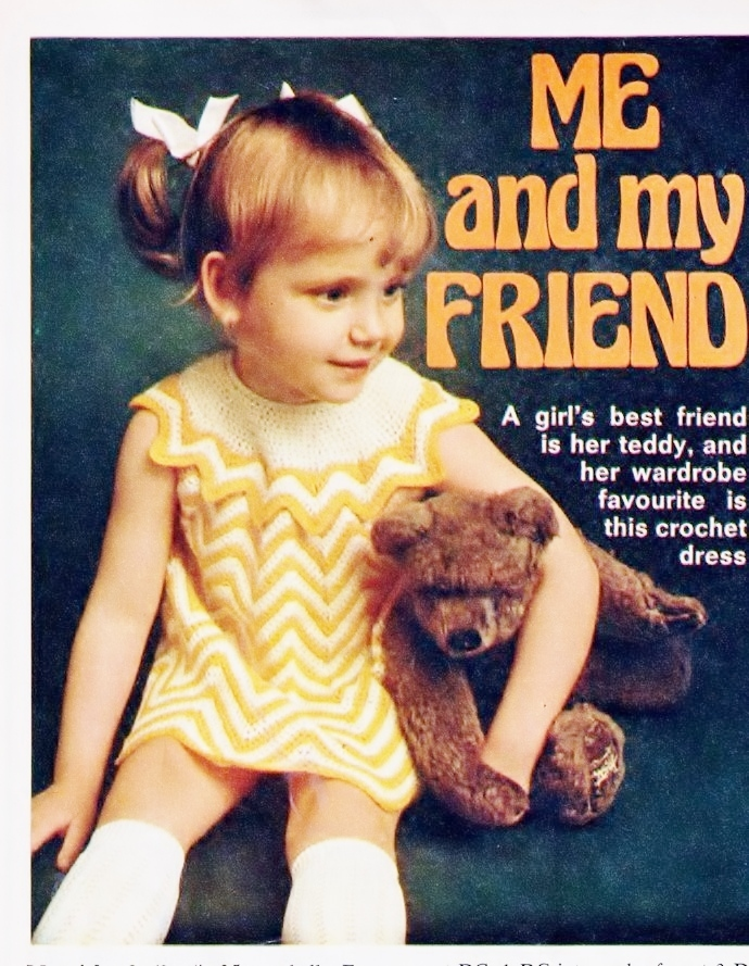 Instant PDF Digital Download Vintage Crochet Pattern to make A Baby's Bebe Dress