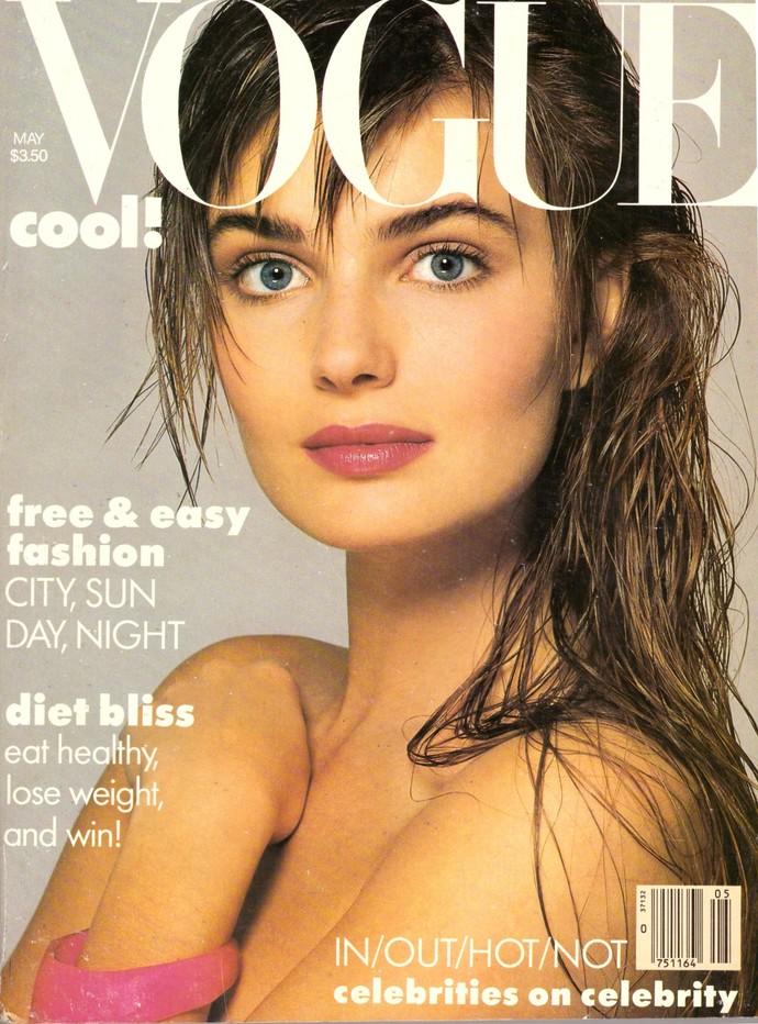 1986 Vogue Fashion Magazine Paulina Porizkova Cindy Crawford Swimsuits Georgia