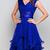 Pretty Chiffon V-neck Neckline Knee-length Ruffled A-line Homecoming Dresses