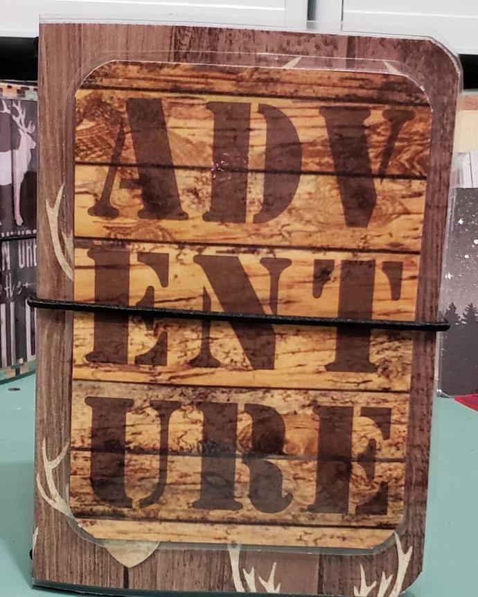 """Wood Works """"adventure"""" micro travelers notebook"""