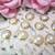 stl 10pc Tiny Pearl Flatback Flower Center Embellishment - 8 mm