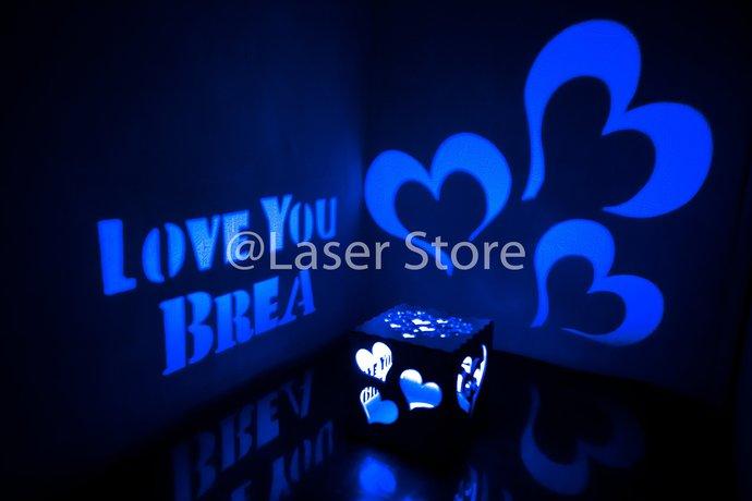 girlfriend birthday personalized gift by laserstore on zibbet